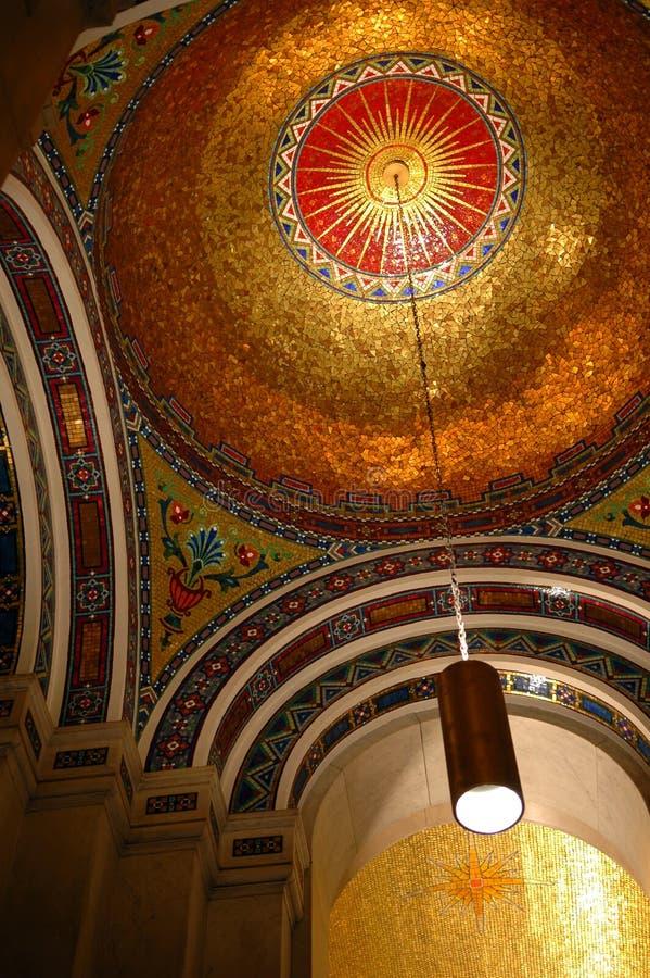 Mosaicos na catedral de St Louis imagem de stock royalty free
