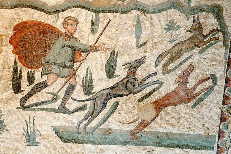 Mosaicos romanos imagens de stock