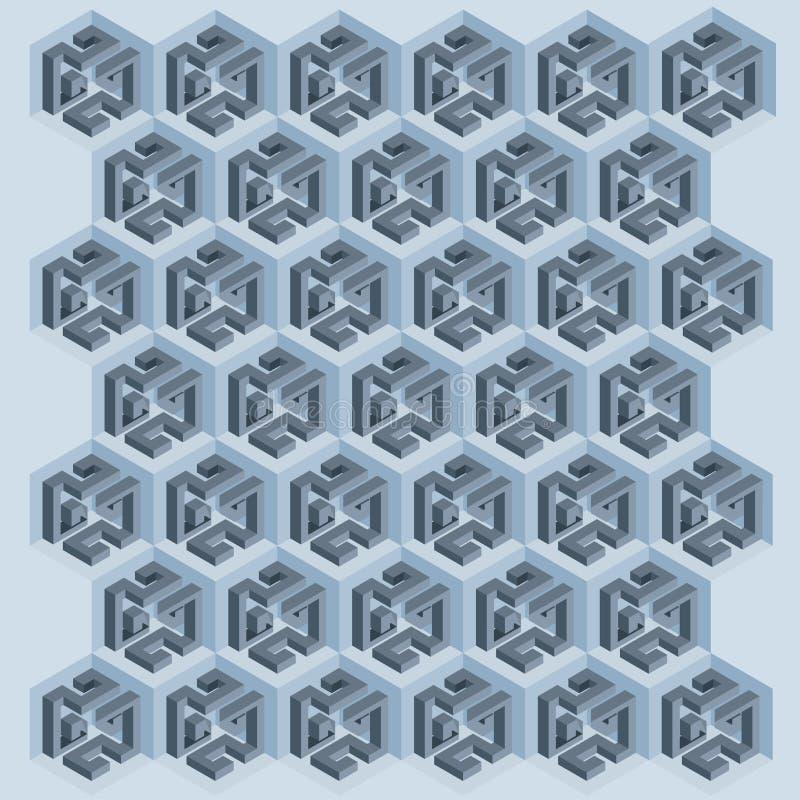 Mosaics of cubes second model royalty free stock photos
