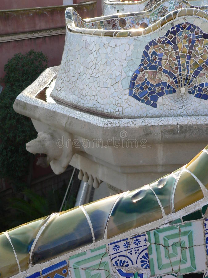 Download Mosaics, Parc Guell ( Barcelona ) Stock Photo - Image: 26403658
