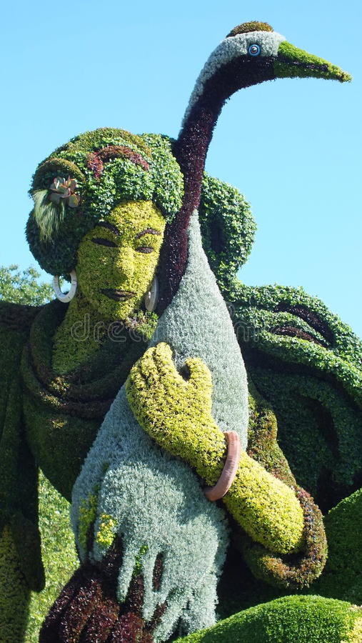 MOSAICULTURES国际性组织2013年,蒙特利尔植物园,蒙特利尔,魁北克 上海,中国加入:一个真实的故事 免版税库存图片