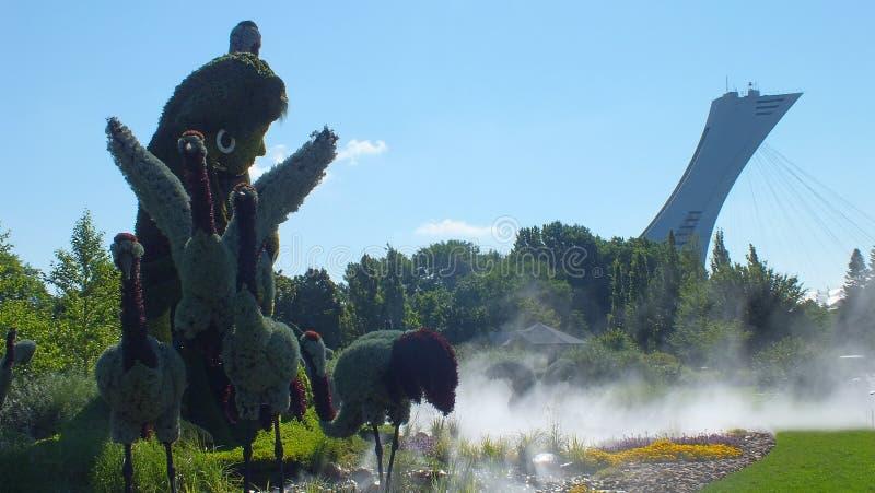 MOSAICULTURES zawody międzynarodowi 2013, MONTREAL ogród botaniczny, Montreal, Szanghaj, Porcelanowy wejście: Prawdziwa opowieść obrazy stock