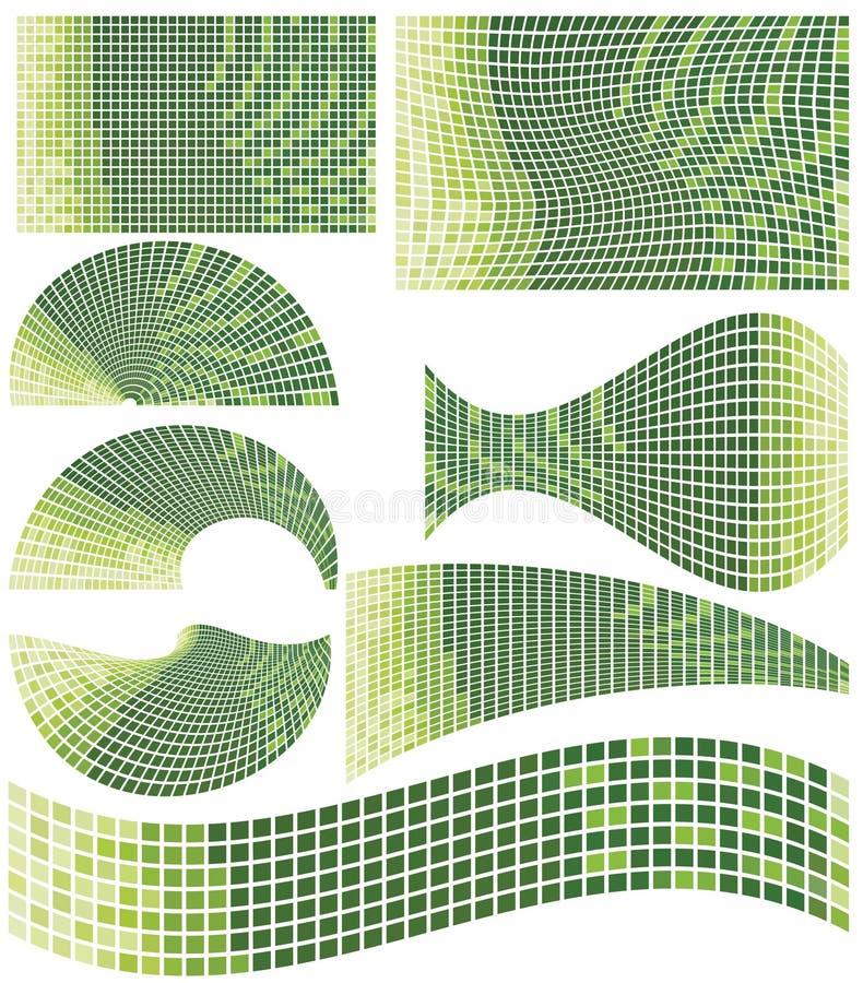 mosaik stock illustrationer