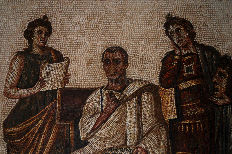 Mosaik Bardo museum, Tunis, Tunisien arkivfoton