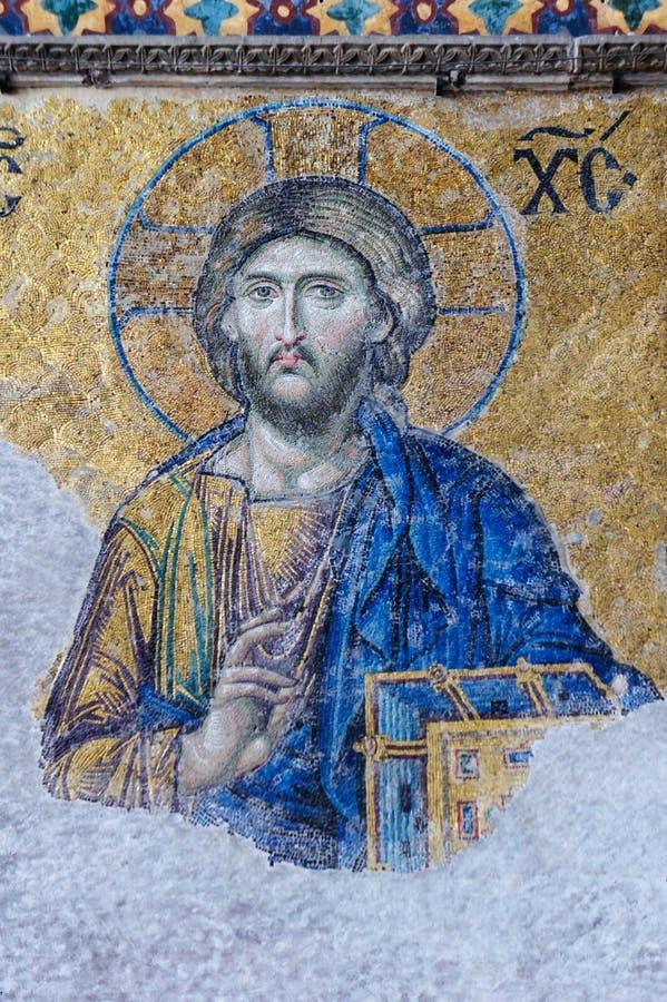 Mosaik-Bild des Jesus Christus stockfoto