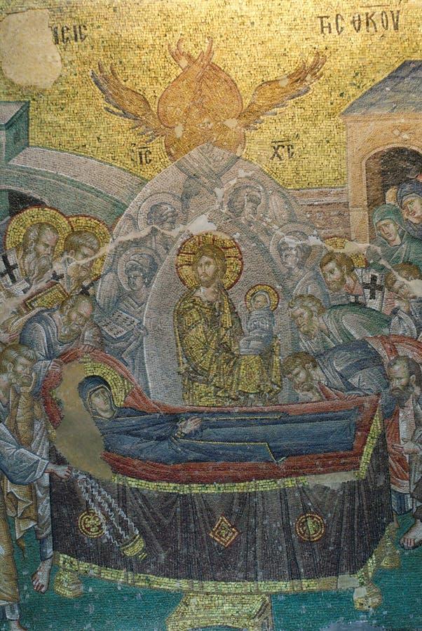 Mosaik in Chora Kirche stockfotos