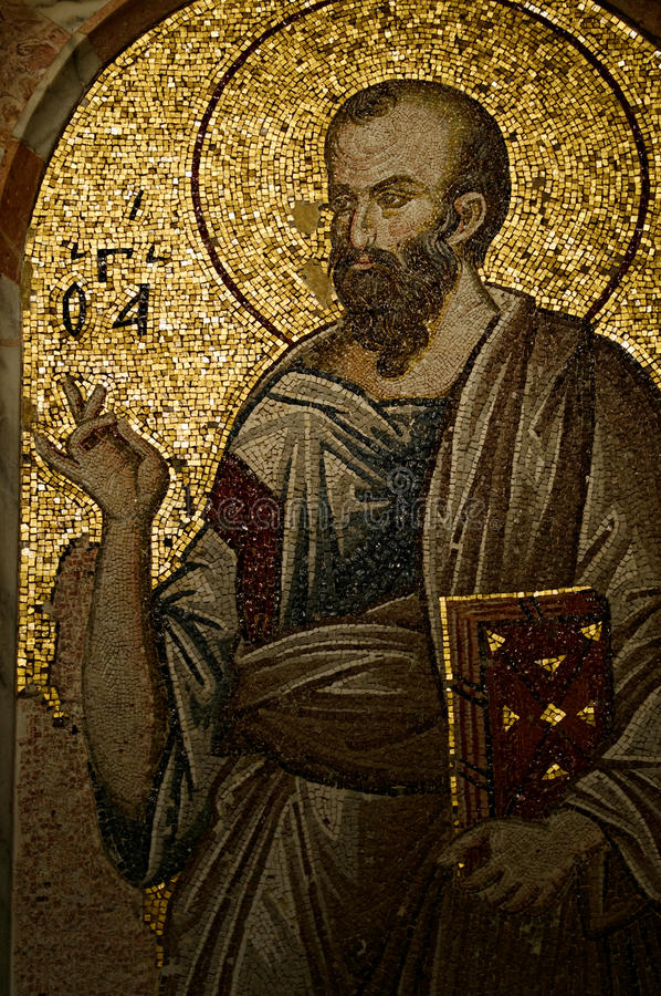 Mosaik in Chora Kirche stockfotografie