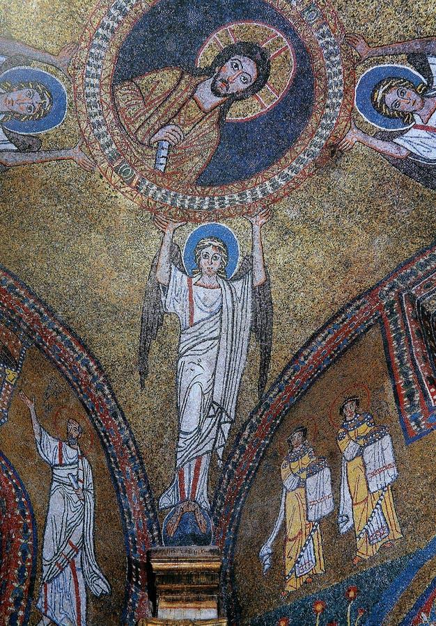 Mosaik in der Basilika Santa Maria Maggiore, Rom, Italien lizenzfreie stockfotos