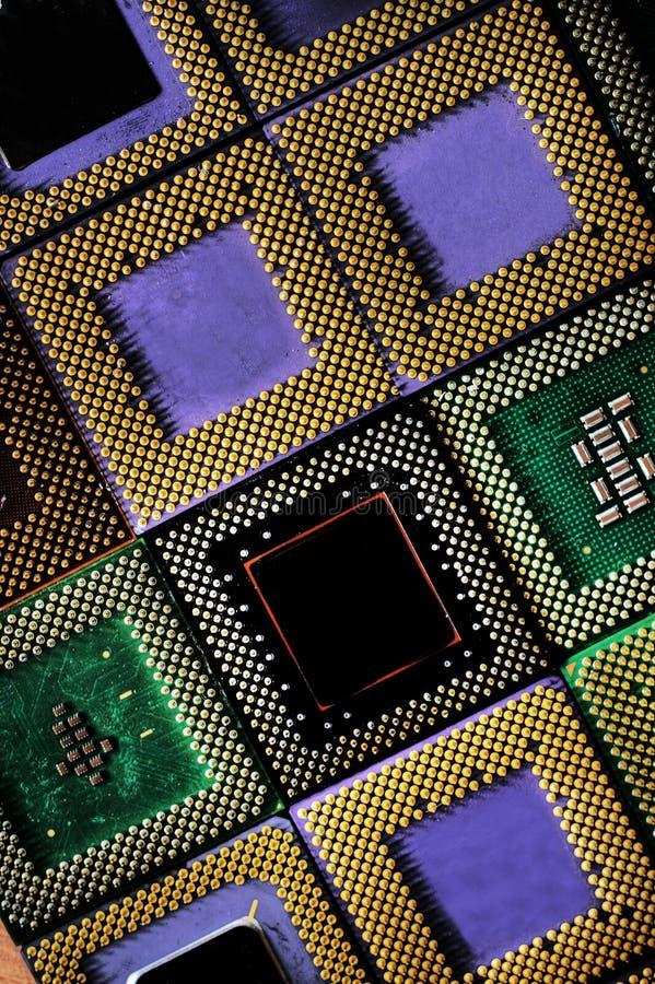 Mosaik der Prozessoren lizenzfreie stockfotografie