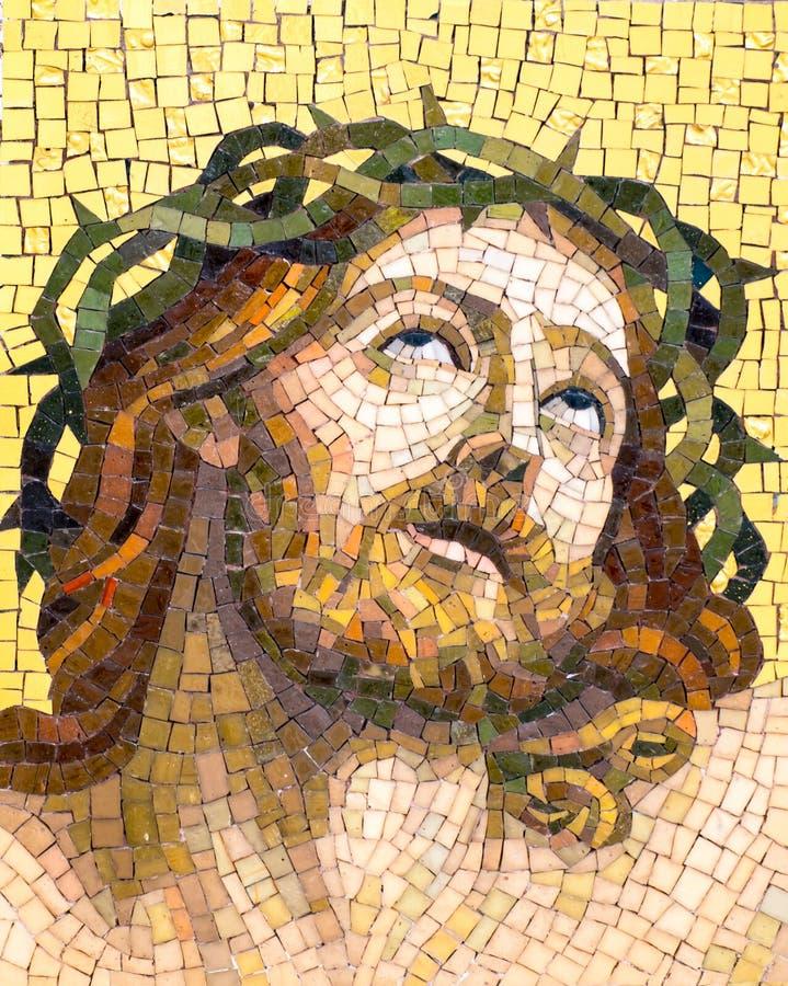 Mosaik des Jesus Christus stockbilder