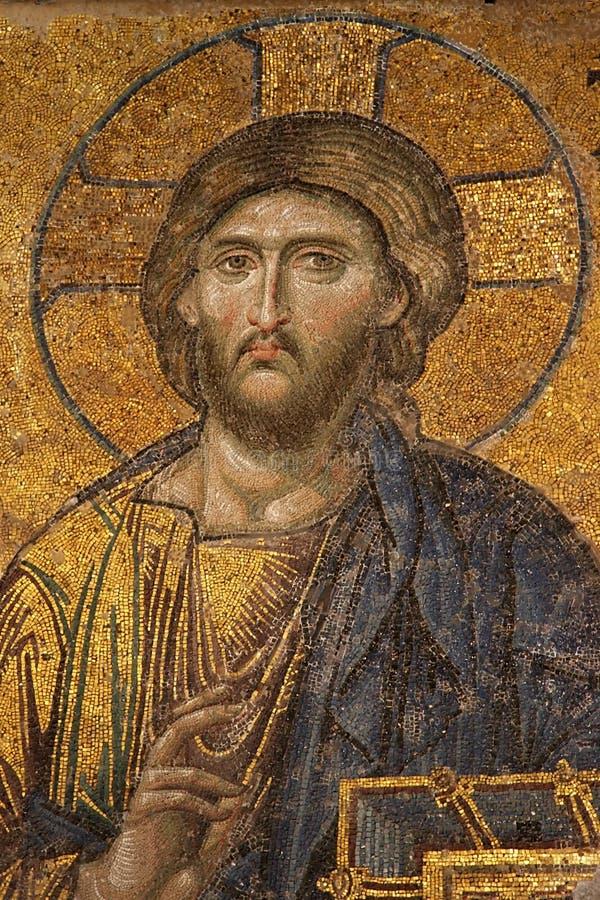 Mosaik des Jesus Christus bei Hagia Sofia lizenzfreies stockfoto