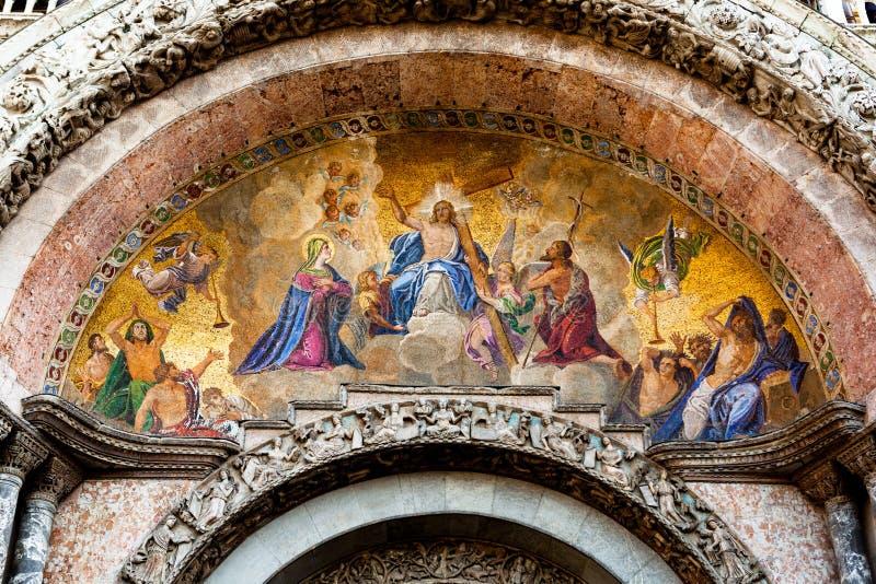 Mosaik för bedömningdag på St-fläckar i Venedig arkivbild