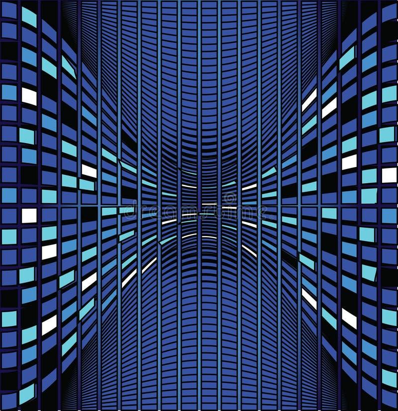 mosaik för färgdesignillustration stock illustrationer