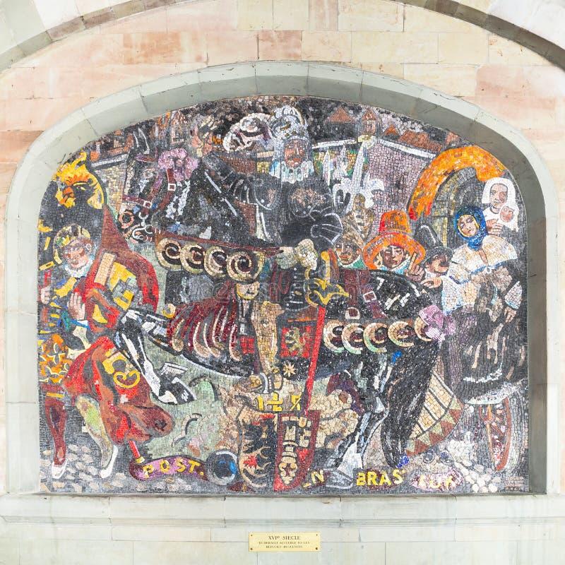 Mosaik i geneva royaltyfri bild
