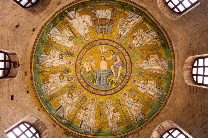 Mosaik i Ravenna arkivfoton