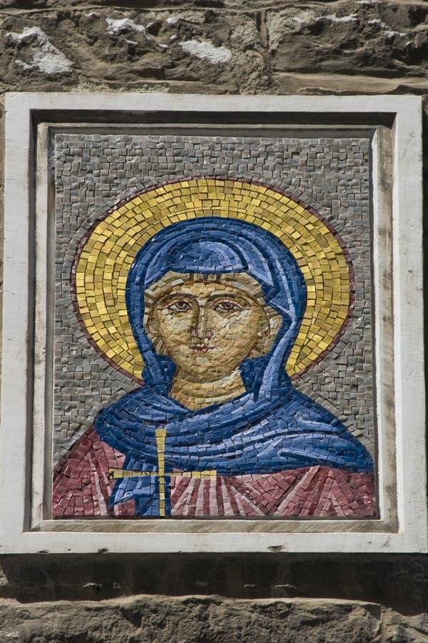 Mosaik-Ikone stockbilder