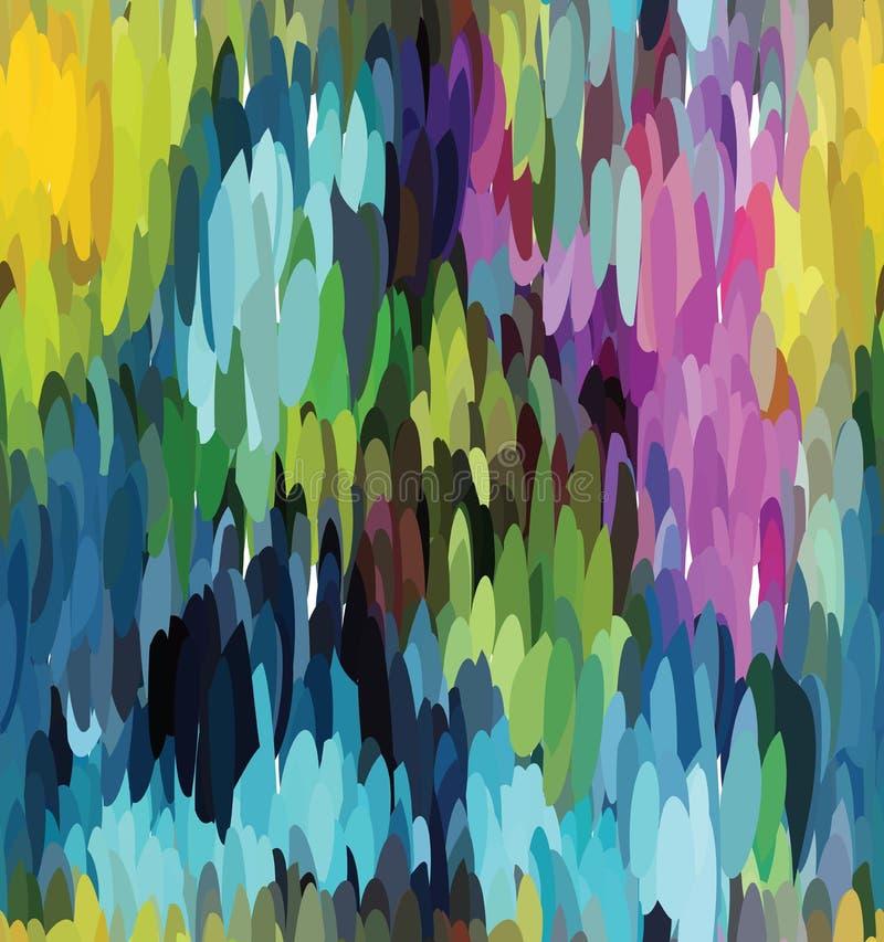 Mosaik med blått och rosa färger royaltyfri illustrationer