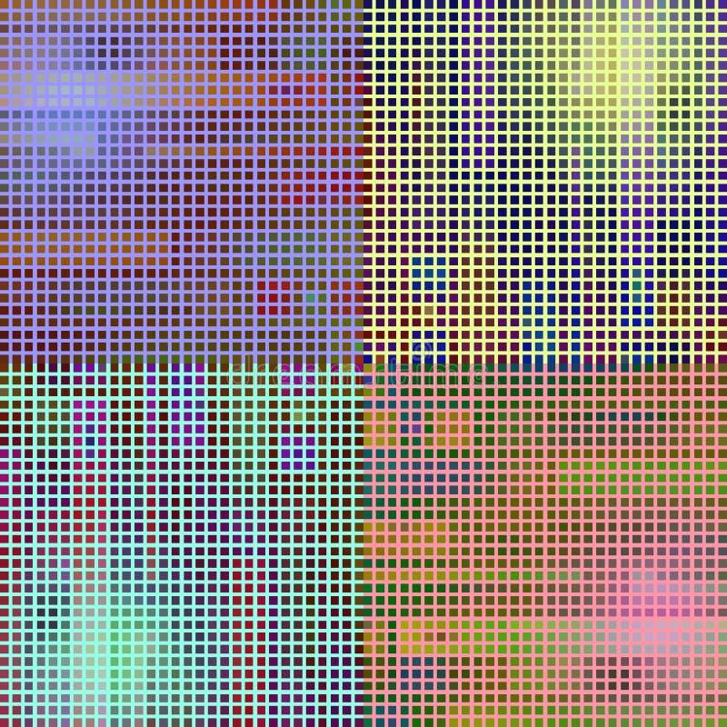 Mosaik med ilsken blick vektor illustrationer