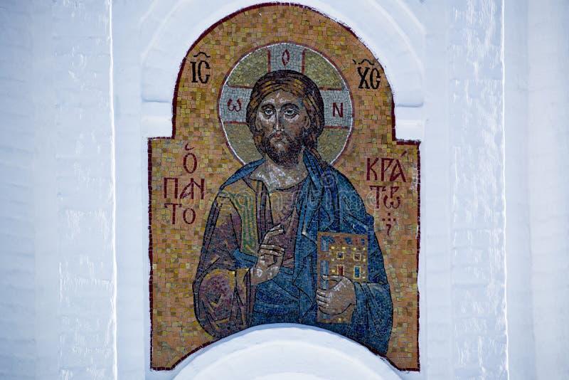 Mosaik mit dem Bild von Jesus Christ stockfotografie