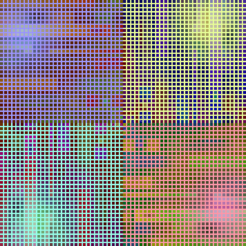 Mosaik mit grellem Glanz vektor abbildung