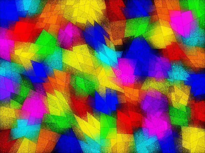 Mosaik-Netzhintergrund des abstrakten Regenbogenspektrums multi farbiger vektor abbildung