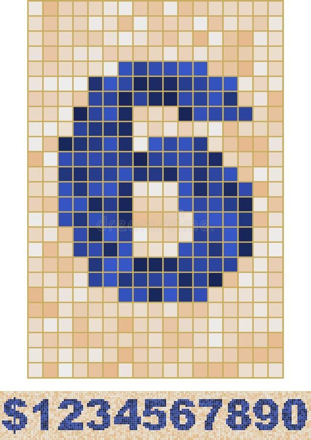 Mosaik-Schrifttyp lizenzfreie abbildung