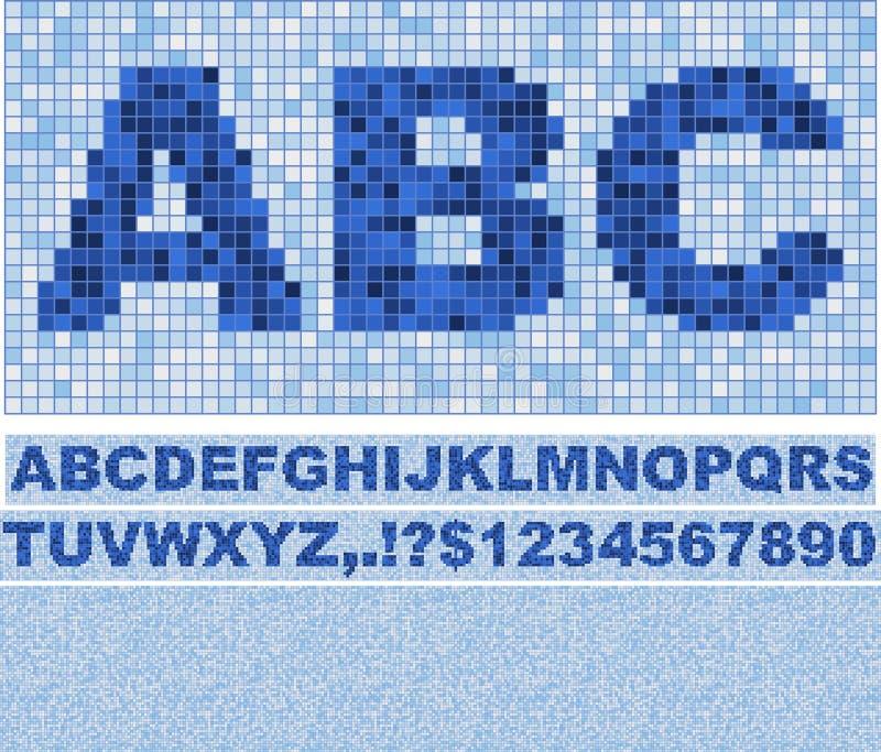 Mosaik-Schrifttyp. stock abbildung