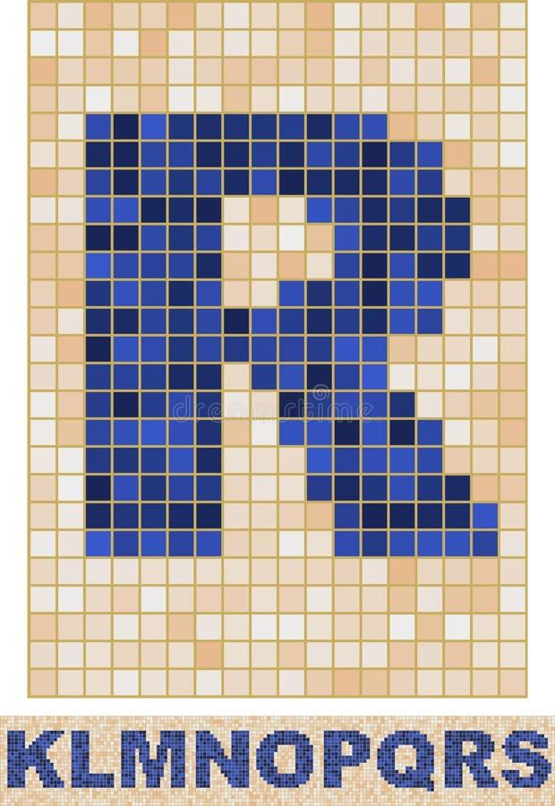 Mosaik-Schrifttyp. K-S. lizenzfreie abbildung