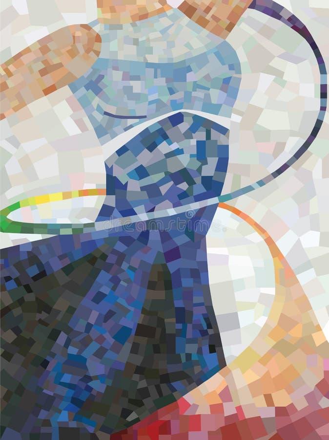 Mosaik-Tänzer lizenzfreie abbildung