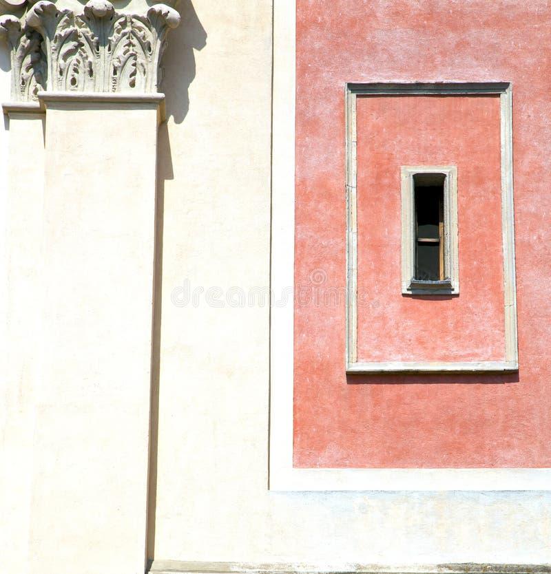 Mosaik Tradate Varese Italien in der roten Orange stockfoto