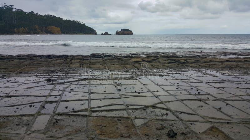 Mosaik- trottoar i Tasmanien, Australien arkivbild