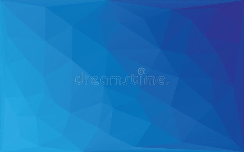 Mosaik-Vektorhintergrund des Polygons abstrakter, Steigungsillustrations-Grafikhintergrund der dreieckigen niedrigen Polyart blau lizenzfreie abbildung