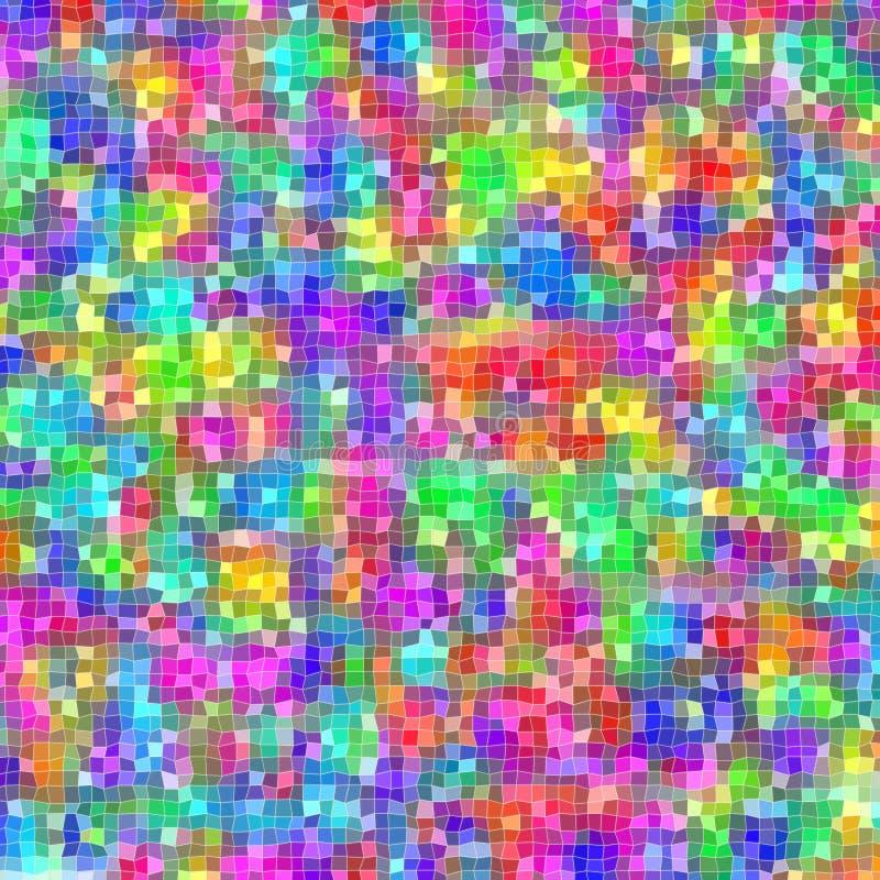 Mosaik von unregelmäßigen kleinen Quadraten in den verschiedenen hellen Farben lizenzfreie stockbilder