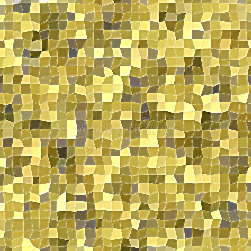 Mosaik von unregelmäßigen Quadraten in den verschiedenen Goldtönen stockfotos