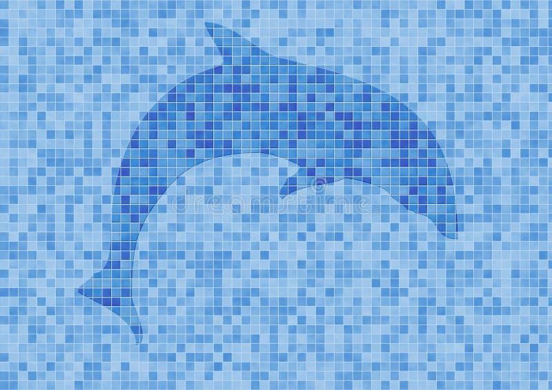 Download Mosaik Wand Mit Delphin Stockfoto. Bild Von Delphin, Säugetier    1015532