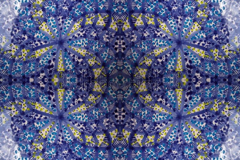 Mosaikblaufliese stockbild