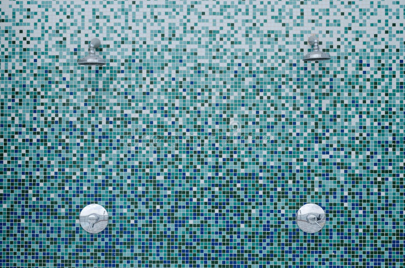 mosaiken duschar tegelplattor royaltyfria bilder