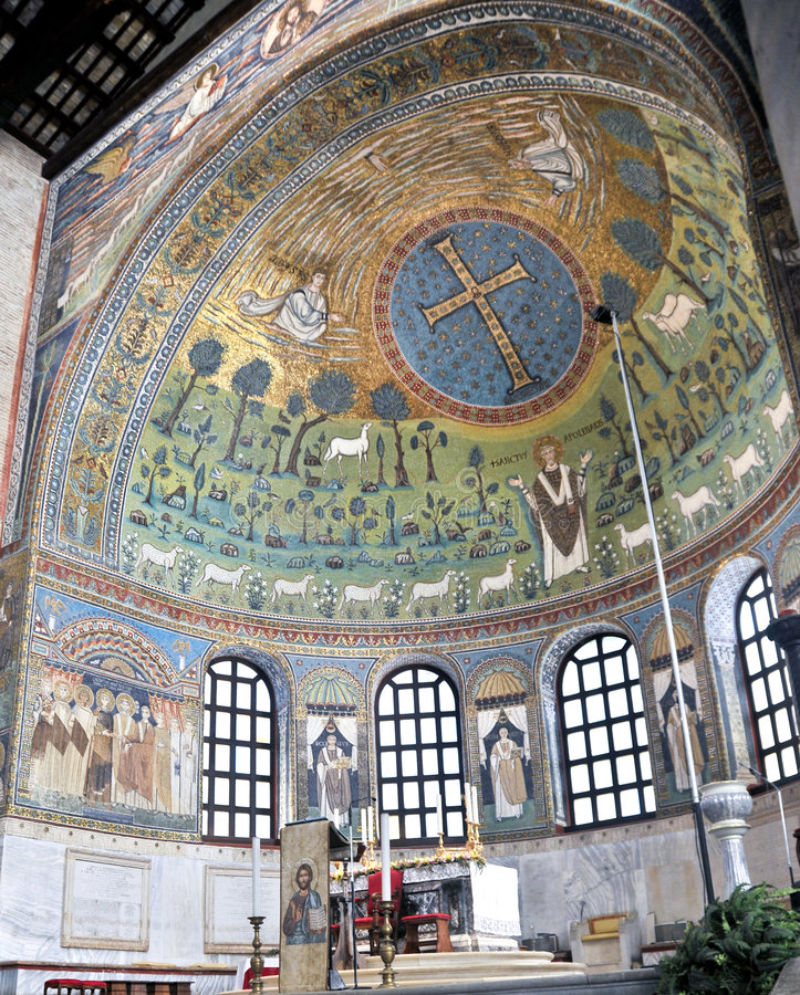Mosaiken in Ravenna stockbild
