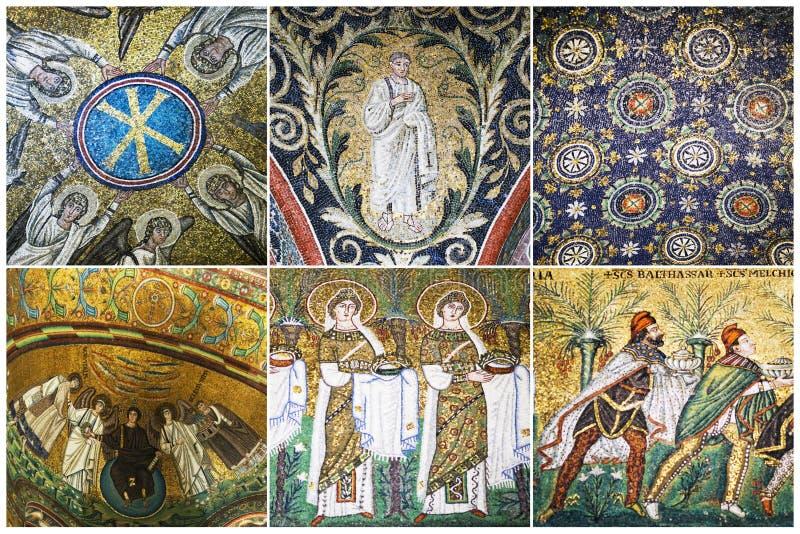 Mosaiker av Ravenna, Italien royaltyfri fotografi