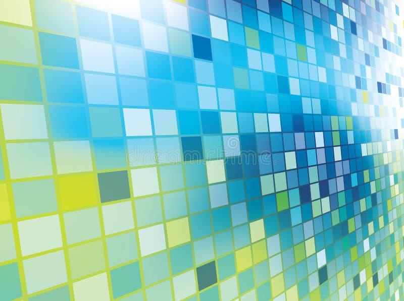Mosaikfarbenabbildungauslegung stock abbildung