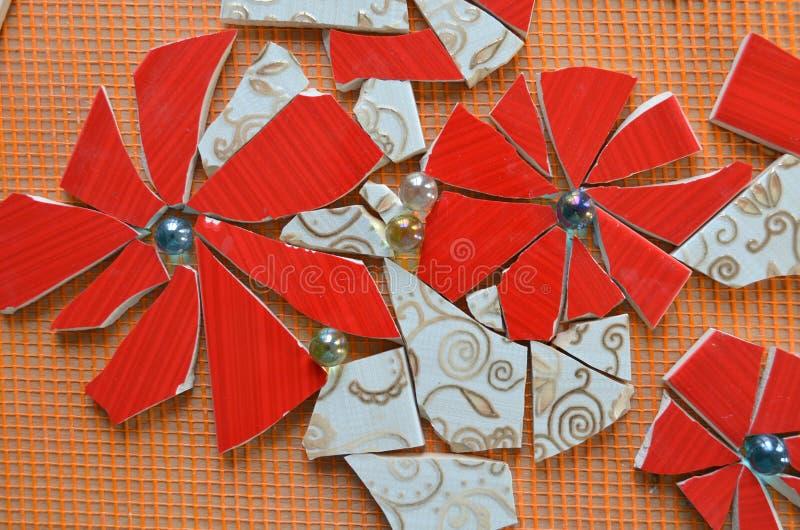 Mosaikfliesen mit Schläger lizenzfreie stockbilder