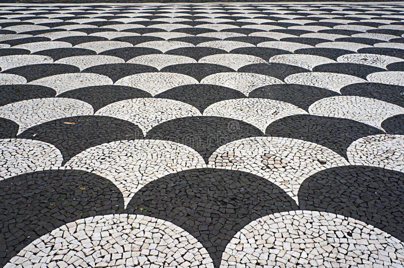 Mosaikfliesenpflasterung In Funchal Madeira Portugal Stockbild - Mosaik fliesen draußen