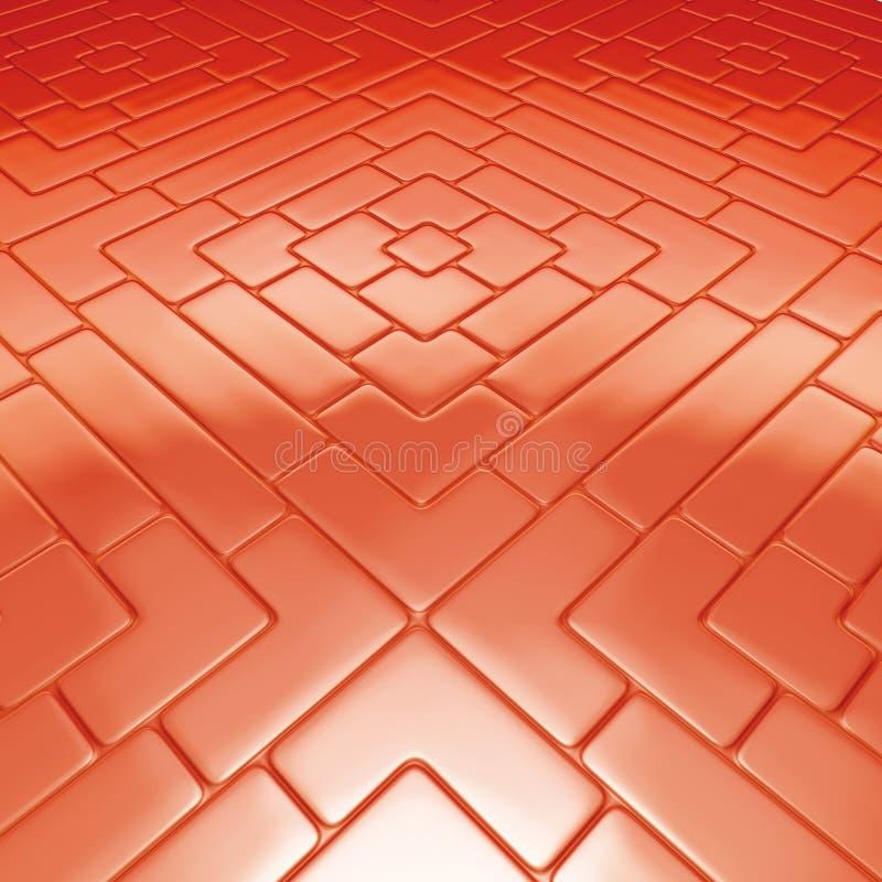 Mosaikfußbodenrot vektor abbildung