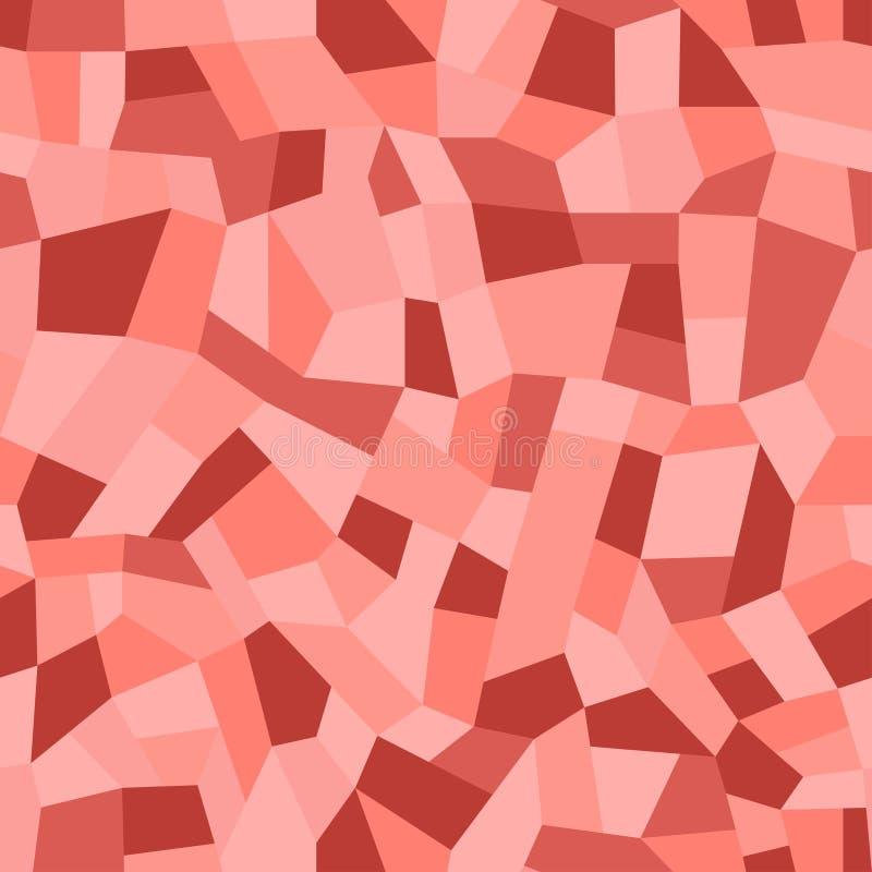 Mosaikfu?b?den von Marmorchips Breitet Terrazzo, nahtloses Muster des Polymermosaiks aus stock abbildung