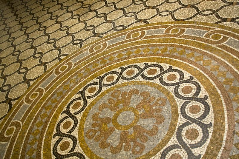 Mosaikmodell för gammal stil royaltyfria foton