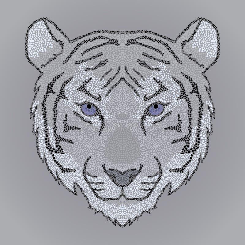 Mosaiktigergesicht stock abbildung
