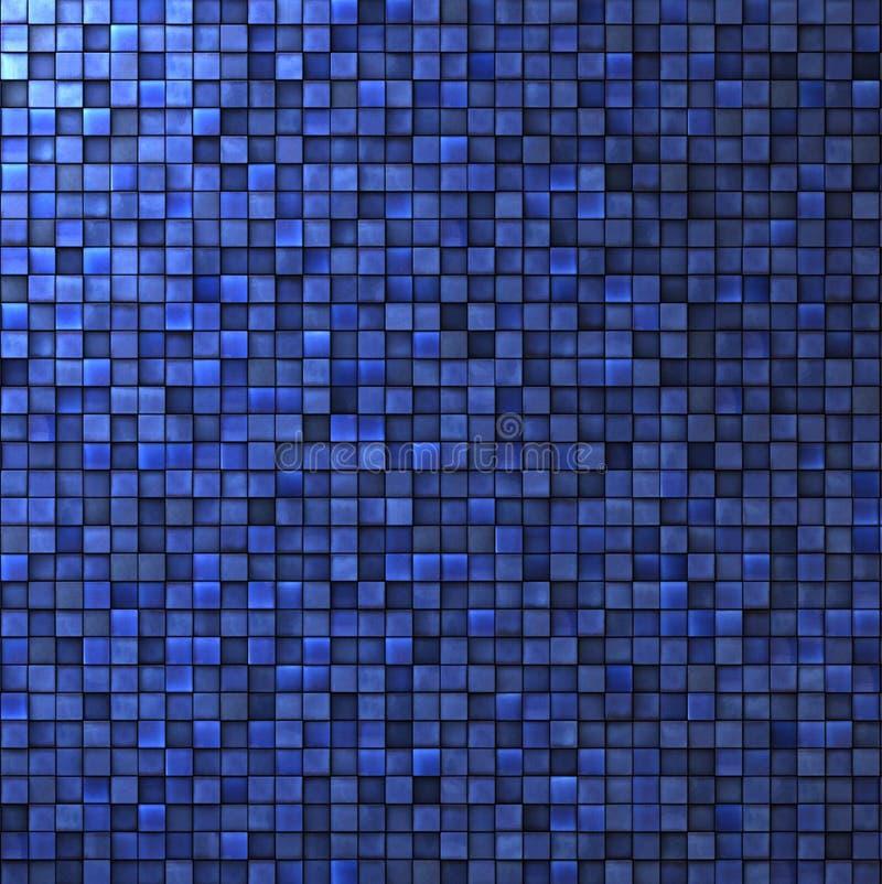 Mosaikwand im Kobaltblau lizenzfreie abbildung