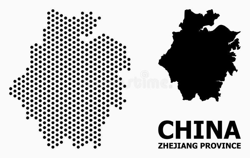 Mosaisk översikt för PIXEL av det Zhejiang landskapet royaltyfria foton