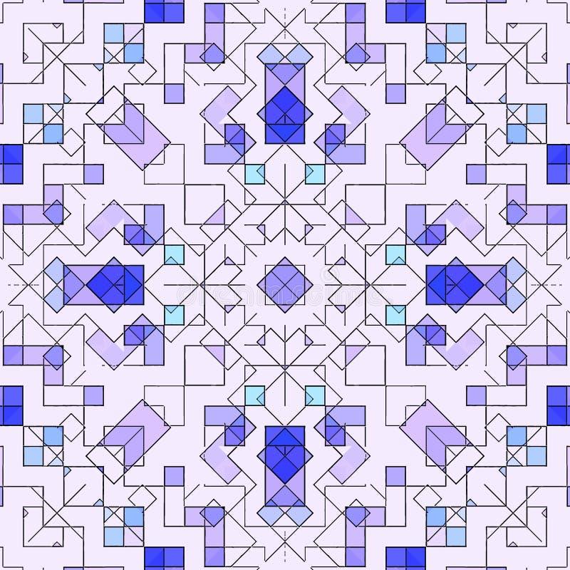 Mosaisk abstrakt befläckt bakgrundsmodell, grafiskt dekorativt royaltyfri illustrationer