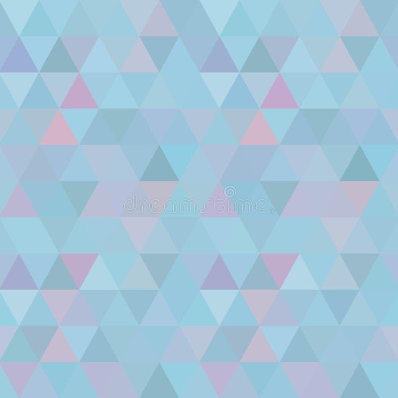 Mosaisk bakgrund för blått raster, idérika designmallar royaltyfri illustrationer